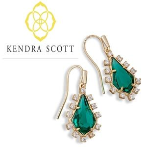 ■Kendra Scott■ Juniper Drop Emerald Earrings